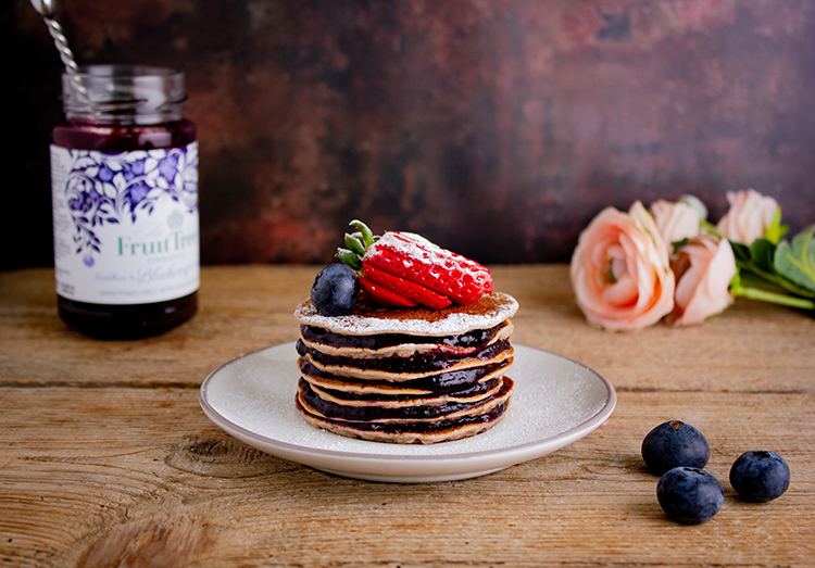 Blueberry Brownie Pancakes