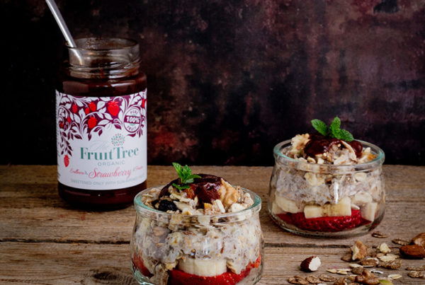 Strawberry Oatmeal with Nuts